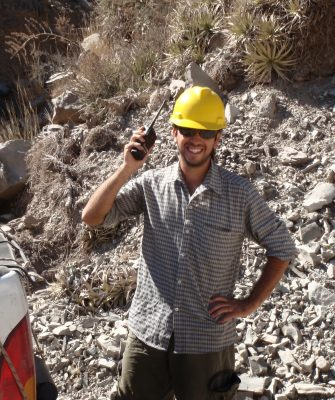 Gustavo with our required radio communication along Route 150 (on loan from the road workers)