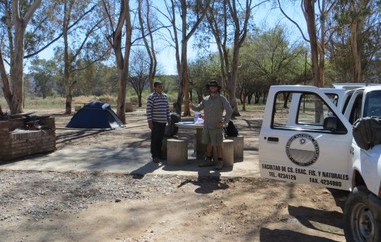 Huaco fieldwork, Argentina